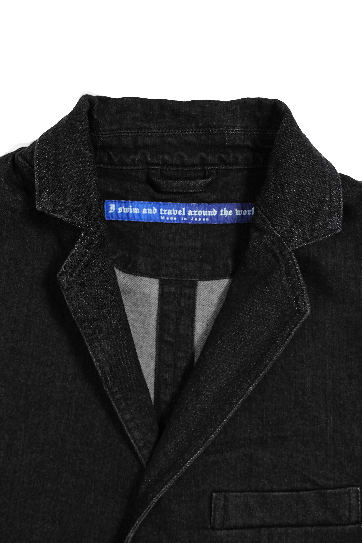 Travel Tailored Denim Jacket 001 / Black