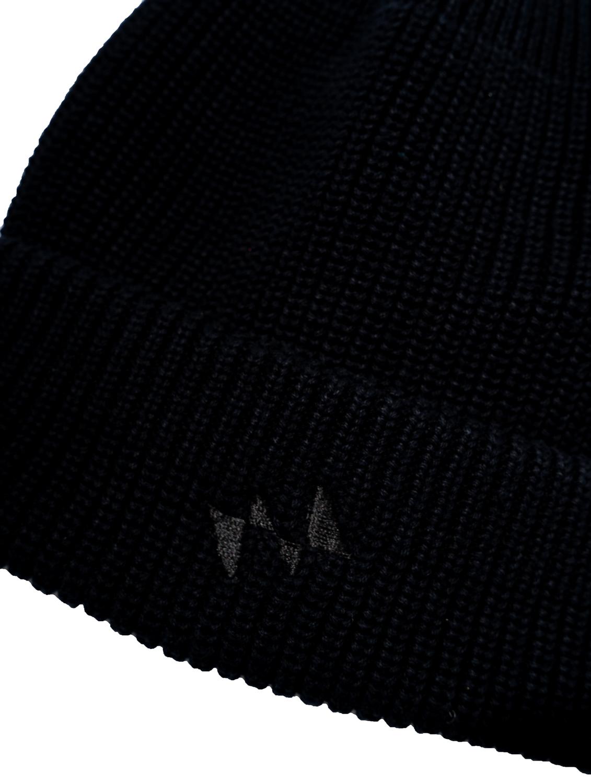 【撥水加工済】コットン100% 洗濯可 おしゃれニット001 - 黒×黒