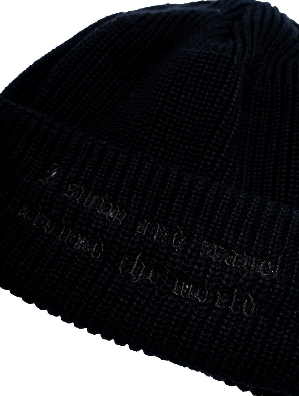 【撥水加工済】コットン100% 洗濯可 おしゃれニット002 - 黒×黒