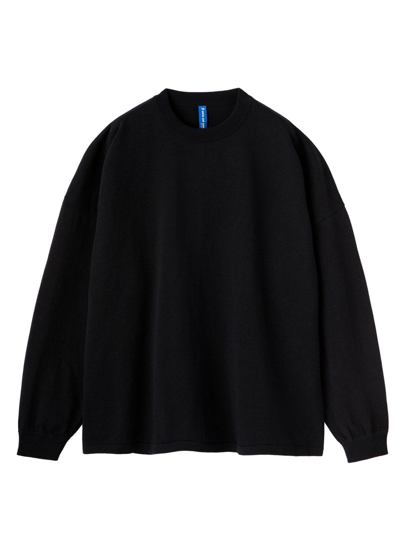 【超撥水】オーガニックコットン100%使用 最高級 長袖Tシャツ - 黒