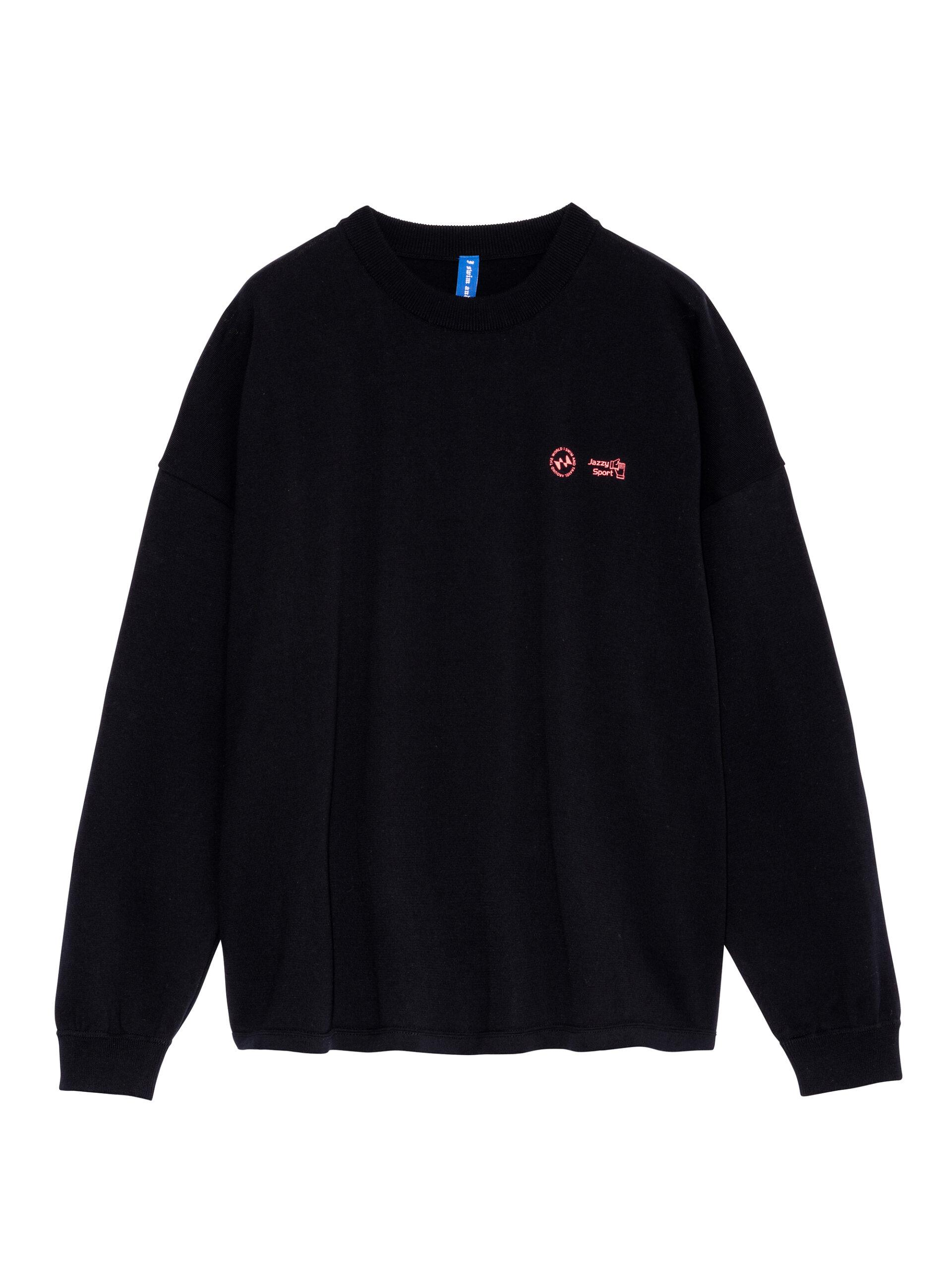 I SWIM × JAZZY SPORT Organic Knit Long Sleeve Tee 002-Black