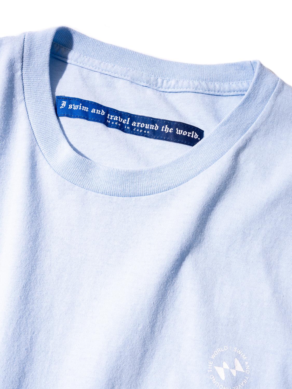 Water Repellent I SWIM Logo Short Sleeve Tee Shirt 003-Sax