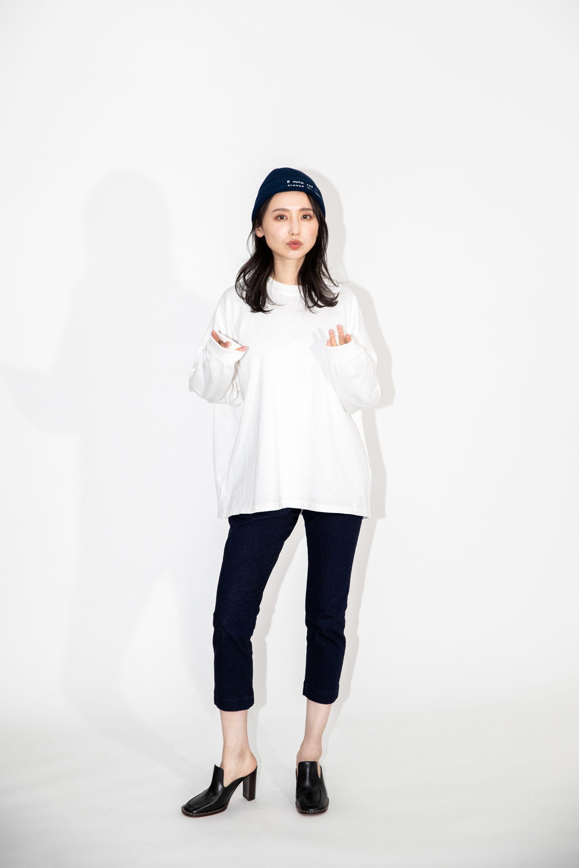【超撥水】オーガニックコットン100%使用 最高級 長袖Tシャツ - 白