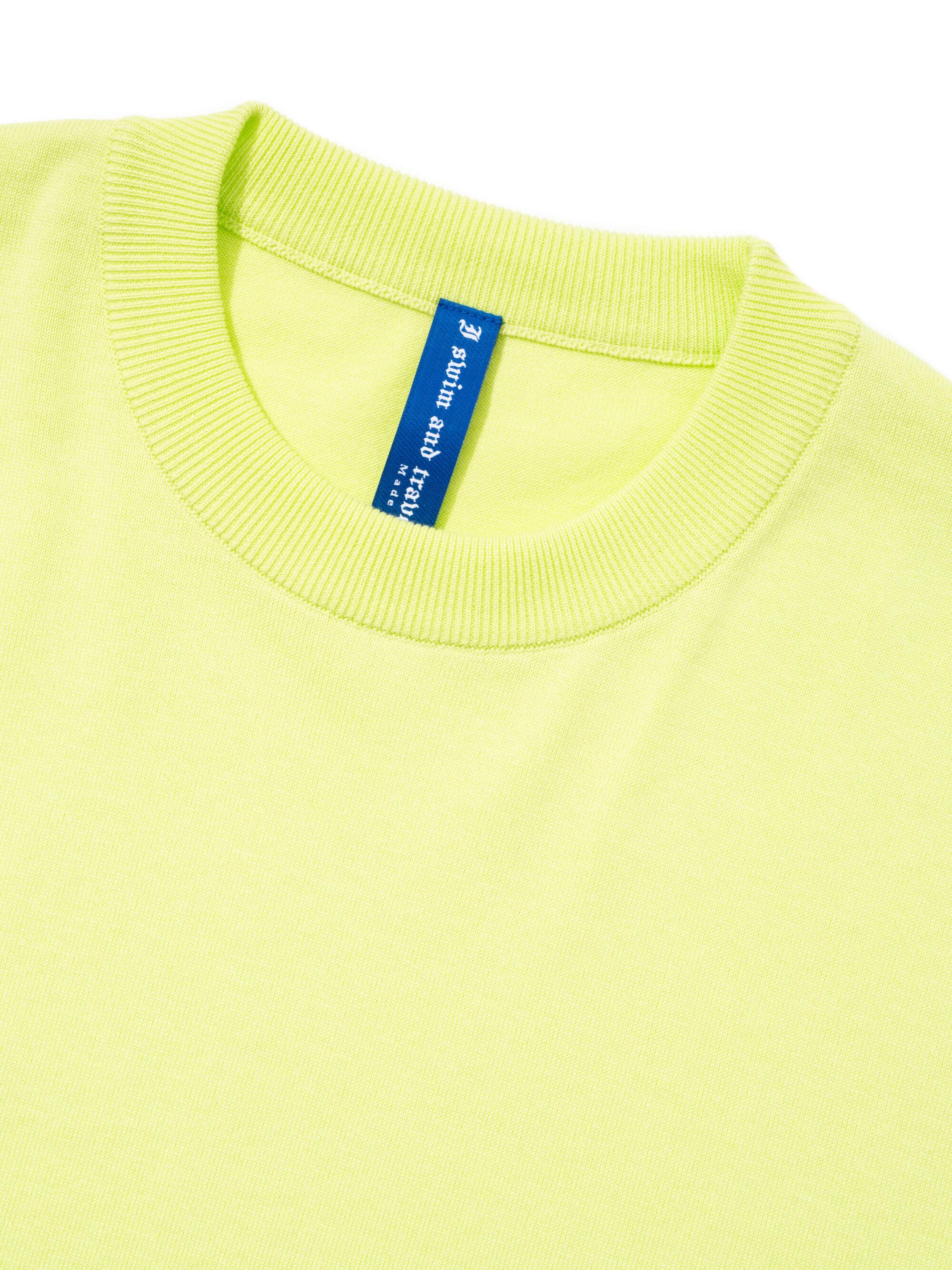 【超撥水】オーガニックコットン100%使用 最高級 長袖 Tシャツ - 黄色
