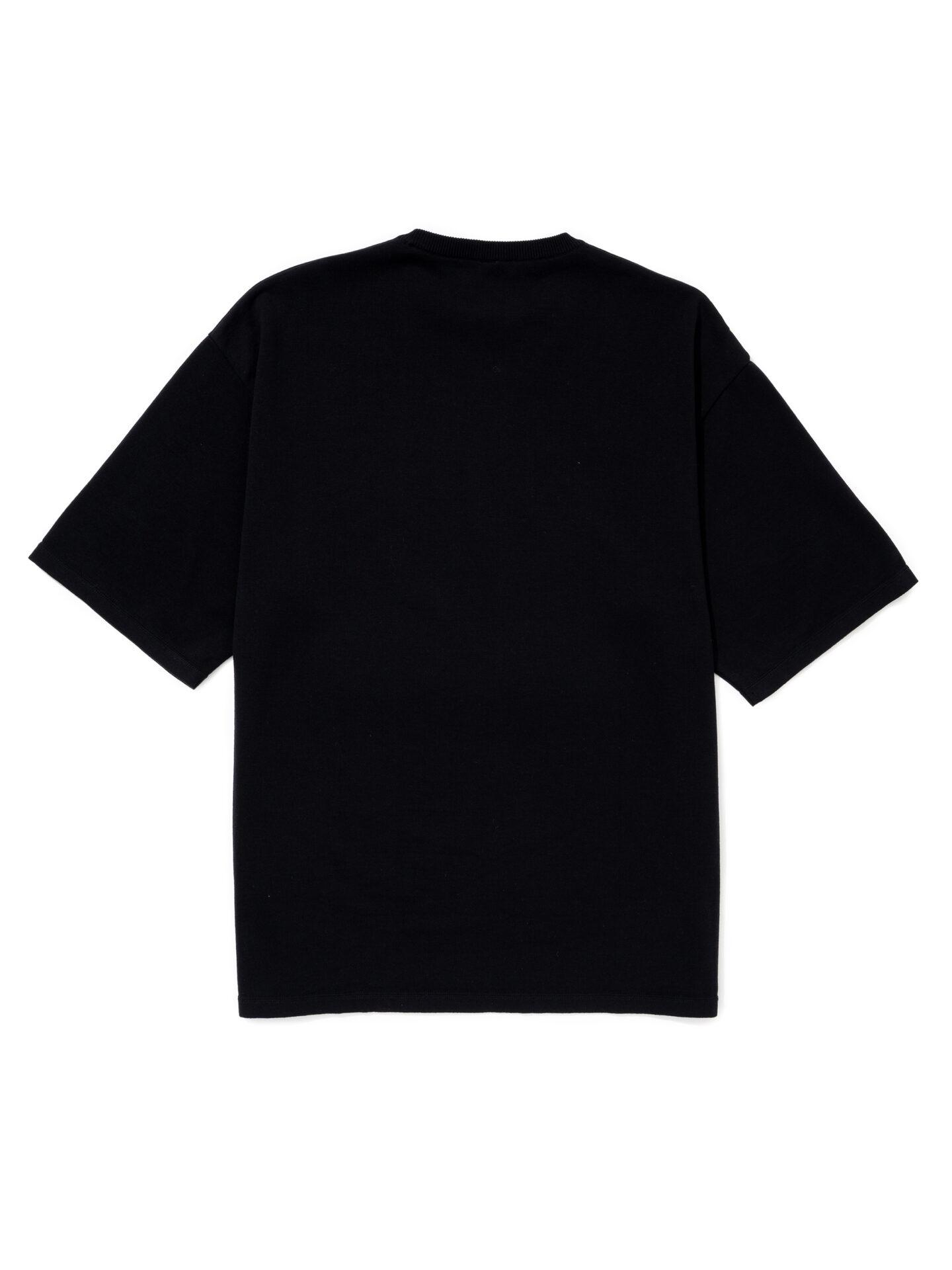 """【超撥水】オーガニックコットン100%使用 最高級 カレッジスタイル""""SWIM""""ロゴ半袖Tシャツ -黒"""