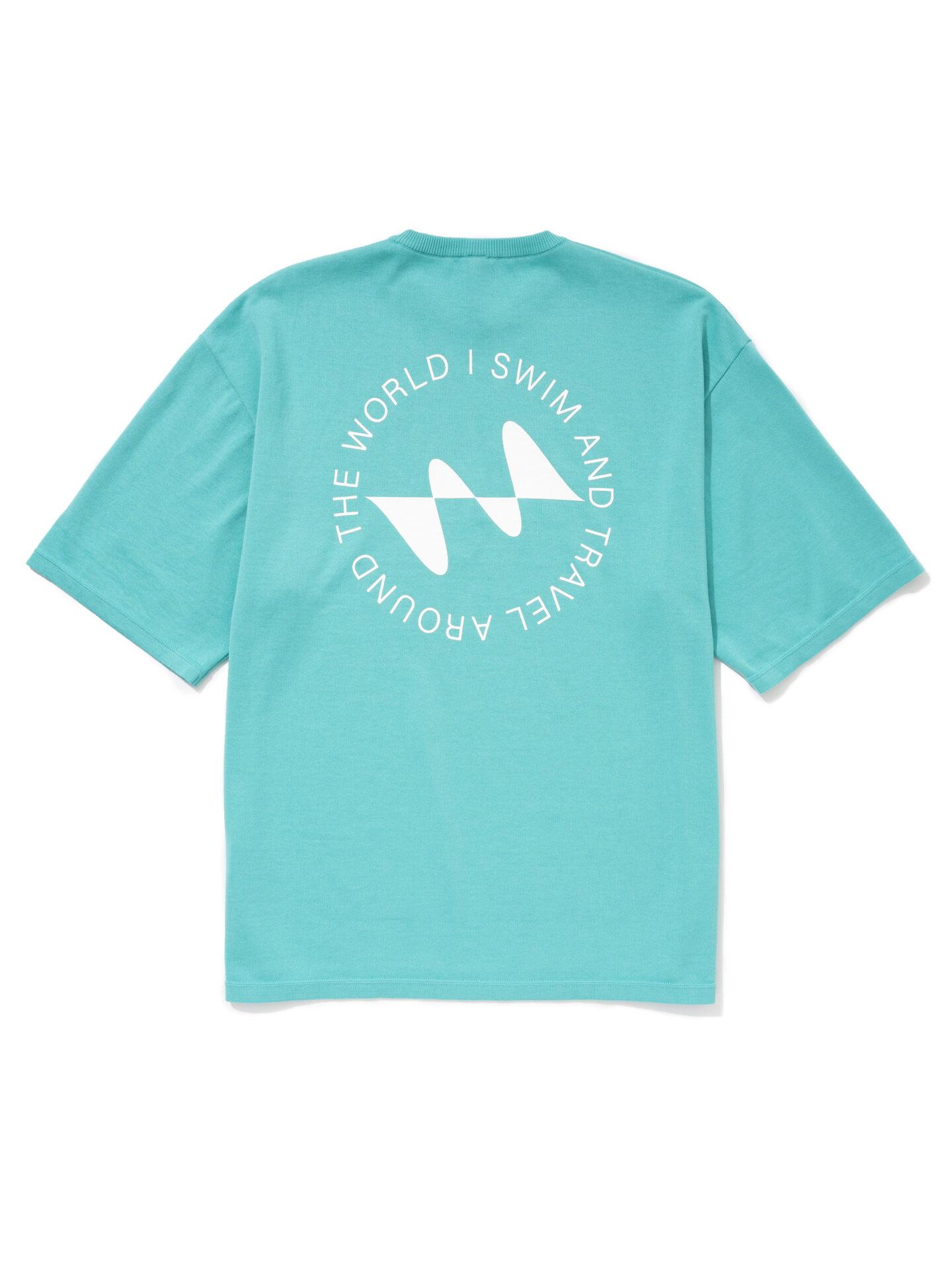 【超撥水】オーガニックコットン100%使用 最高級 I SWIMロゴ半袖Tシャツ -ミント