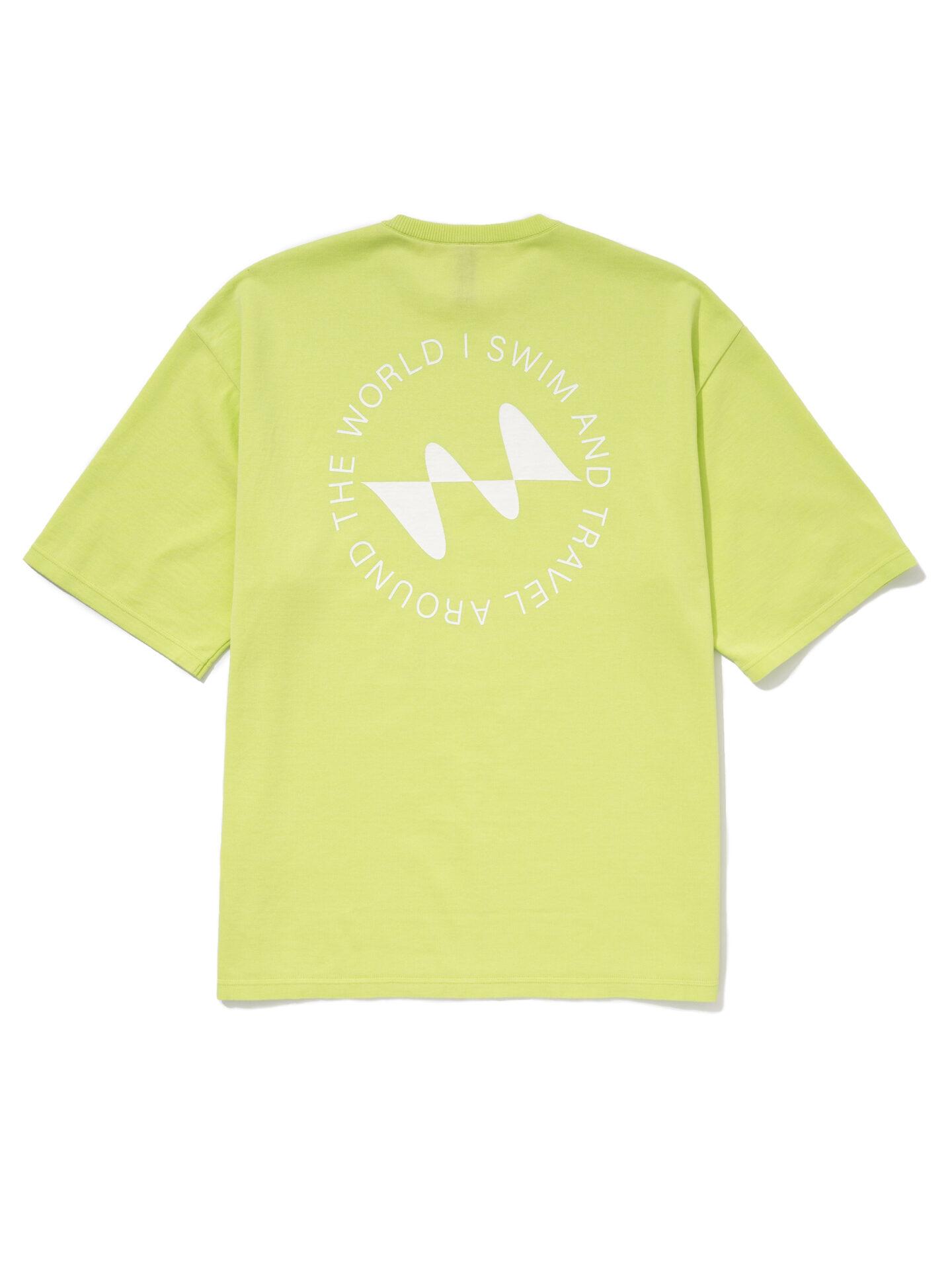 【超撥水】オーガニックコットン100%使用 最高級 I SWIMロゴ半袖Tシャツ -イエロー
